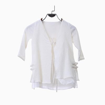 布迷 屋里布衣2016新款小童亲子装双层开衫长袖上衣 RY011060