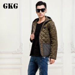 【GKG】 褐色棱格纹棉衣M3716