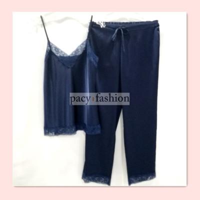 winker蕾丝吊带长裤色丁套装时尚新款上线W003