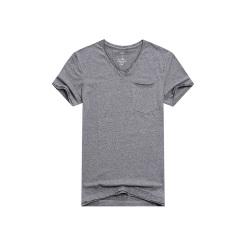 "mercistyle 男士<span class=""gcolor"">短袖t恤</span>修身披口V领打底衫 3208#"