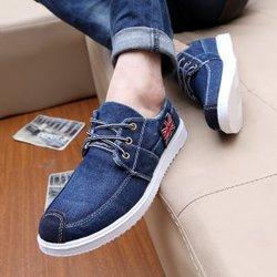 休闲男鞋韩版潮男水洗牛仔帆布鞋低帮板鞋单鞋