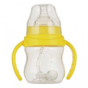 okbebe 宽口径弧形PP自动握把奶瓶A-1075