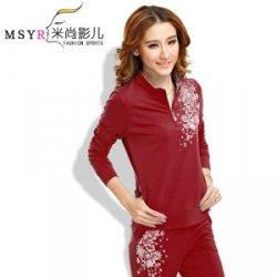 厂家直销韩版休闲套装修身长袖时尚卫衣套装春秋女士运动衣套装