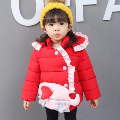 一件代发童装女童棉衣2017新款冬装大童冬季棉服棉袄韩版公主范潮