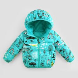 TSFY2D03608  迷彩棉服 一件代发2017新款冬季女童装外套儿童棉服中小童冬款棉袄加厚棉衣