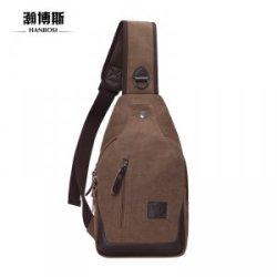 瀚博斯   帆布胸包 韩版休闲包单肩斜挎包 潮小包 跑步运动包 骑行包 HBS9002